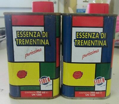 Essenza Di Trementina Purissima 250 Ml Made Italy Fidea Acquaragia Vegetale 2Pz