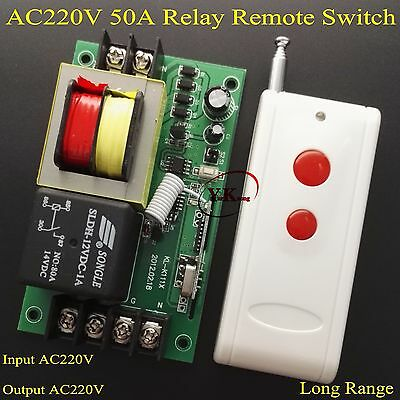 High Power Load Remote Control Switch AC220V 50A Water Pump Controller A ON B OF