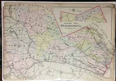 1907 G.w. Bromley Westchester County New York  Ny Reproduction Plat Atlas Map