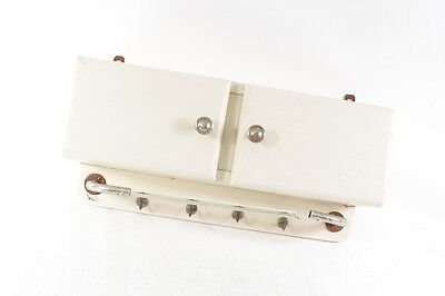 Beautiful Age Wooden Cabinet Wall Art Deco White Kitchen Towel Holder