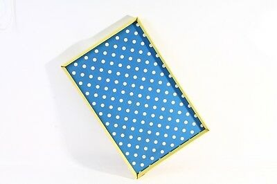 Old Tray Serving Tray Serving Tray 50er The 60er Yellow Blue