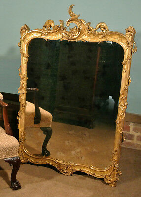 Superb Chippendale George II Large Giltwood Mirror with Ho Ho Birds c. 1750