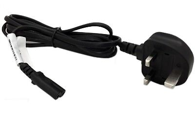 2m Figure of 8 Mains Cable / Power UK Lead Plug Cord IEC C7 Fig Laptop