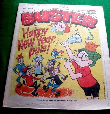 Buster Comic  Happy New Year  Issue  2/1/1982