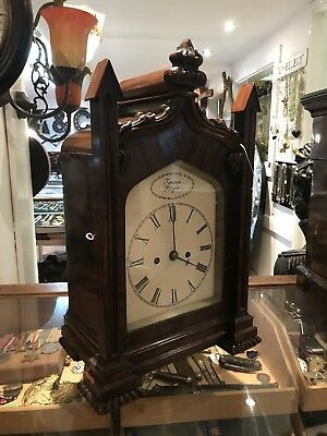 Mahogany Double Fusee Bracket Clock & Original Bracket. Offers?