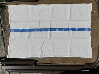 Vintage YMCA NYC New York City Hand Towel White with Blue Strip