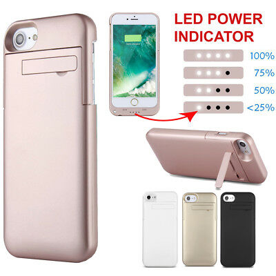 Battery External Power bank Charger Case Charging Cover For iPhone XS 6 7 8 Plus
