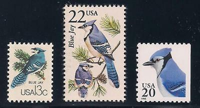 Blue Jays - Set Of 3 U.s. Postage Stamps- Mint Condition