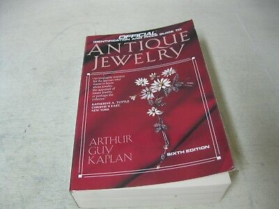 1990 Official Price Guide To Antique Jewelry Sixth  Edition Softcover Book