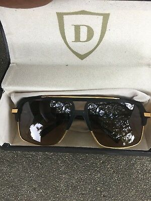 b79fe5601884 Dita Mach Four Titanium Drx 2070-A-Blk Matte Black 18K Gold brown Sunglasses
