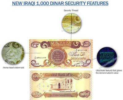 10,000 Iraqi Dinar (10) 1,000 Note Uncirculated!! Authentic! Iqd!@