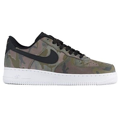 Nike Air Force 1 '07 LV8 Camo Mens 823511-201 Olive Sequoia Low Shoes Size 10.5