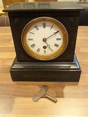 Victorian Marble Mantel Clock with C.J.& Co movement
