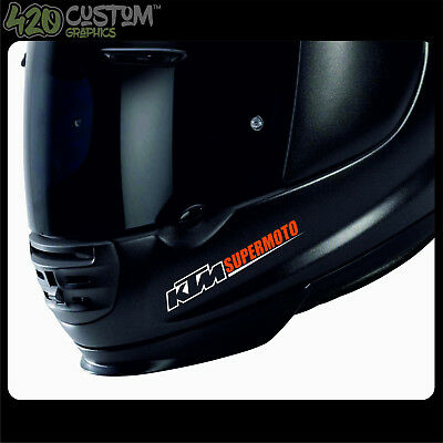 KTM SUPERMOTO HELMET KIT Decal Sticker Detail-Best Quality-Many Colours