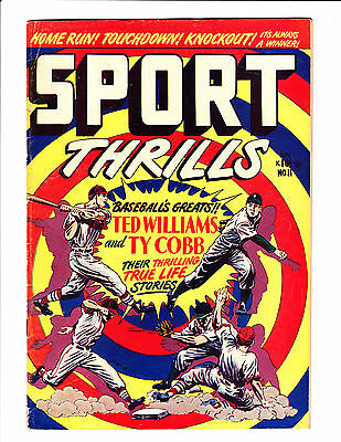 Sport Thrills   No.11     : 1950 :      : Ted Williams & Ty Cobb :