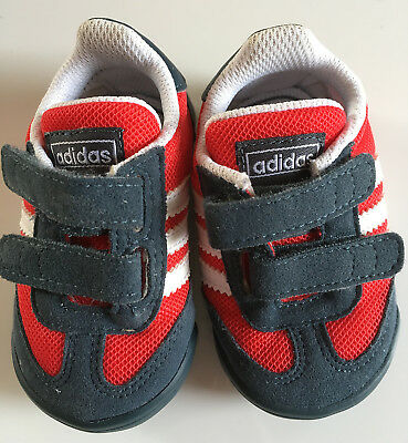 new concept d431e 0af0a ADIDAS Originals UK Size 2 Red Dragon Learn 2 Walk Infant Baby Crib Shoes
