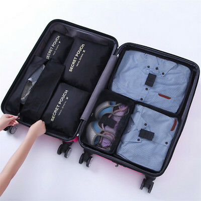 7 Waterproof Packing Cube Compression Clothes Storage Bag Travel Insert Case Set