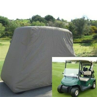 Waterproof 2 Passengers  Golf Cart Protector Cover For EZGO Club Car Khaki EW
