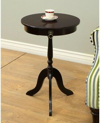 End Table Cherry Round Pedestal Accent Living Room Furniture Home Decor