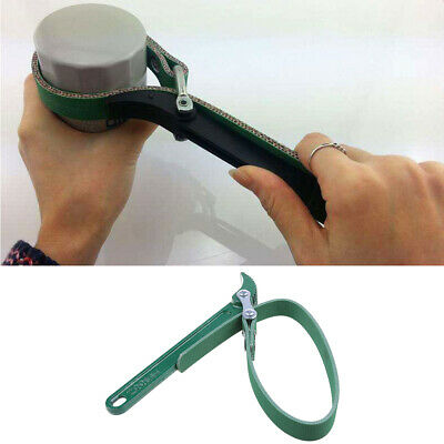 """9"""" Belt Type Oil Filter Pipe Wrench Spanner Removel Key Strong Handle Tool Green"""