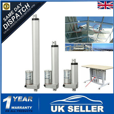 12V B-Grade High Speed Linear Actuator 200N / 20kg + Mounting Brackets 30mm/s UK