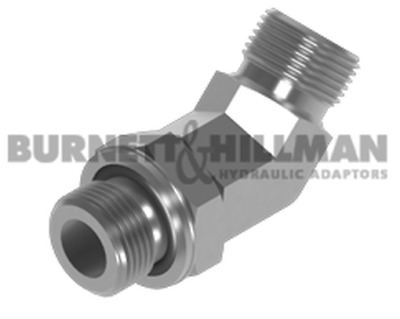 Burnett & Hillman BSP Male x BSP male 45° Positional Forged Elbow Adaptor