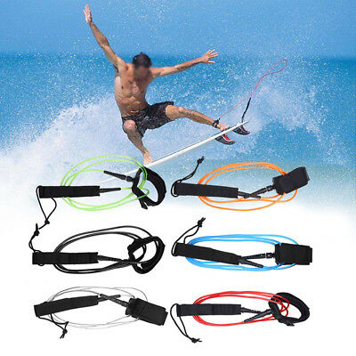 TPU 6ft Surfboard Leash Super Strong Surfing Board Leash String Leg Rope EI
