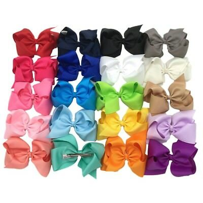 XIMA 5inch Big Hair Bows with Alligator Clips for Girls and Women Bows Clips