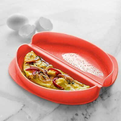 Lékué OMELETTE MAKER Microwave Ready in 3mins Silicone RED Lekue