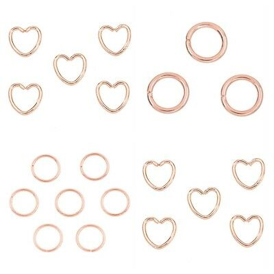 Super Strong ROSE GOLD Jump Rings Jewellery Making Findings 11-15mm - lady-muck1
