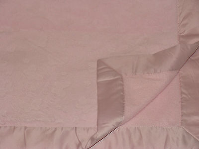 Bright Future Pink Baby Blanket Embossed Butterfly Butterflies Satin Trim Edge