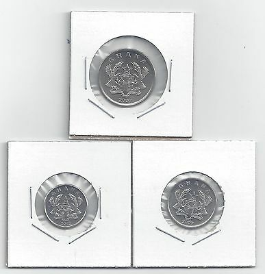 From Show Inv. - 3 NICE COINS from GHANA - 5, 10 & 20 PESEWAS (ALL DATING 2007)