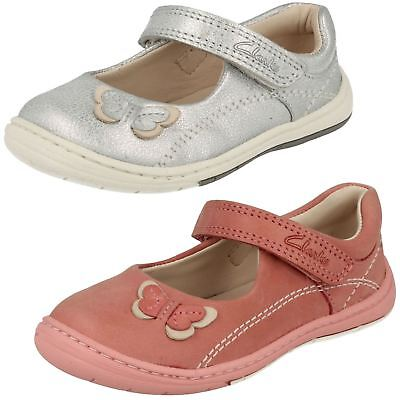 Infant Toddler Girls Clarks Leather First Mary Jane Hook & Loop Shoes Softly Wow