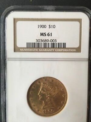 1900 $10 Liberty Coin 1900 MS61