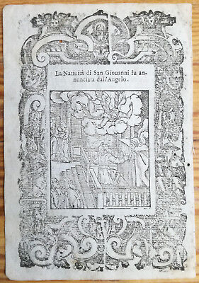 Post Incunable Leaf Rosario Woodcut San Giovanni Angelo... Venice - 1521#