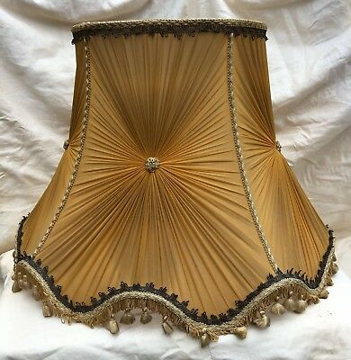 Vintage large early to mid century french pleat chiffon standard vintage large early to mid century french pleat chiffon standard lamp shade aloadofball Image collections