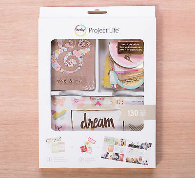 Project Life NOTES & THINGS VALUE KIT (130) PCS scrapbooking 380373 DREAM HAPPY