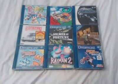 9 Sega Dreamcast Games all complete with manual