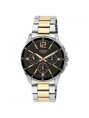 Casio MTP1374SG-1A Mens Stainless Steel 50M Gold Tone Silver Dress Watch