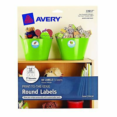 Avery Round Labels Glossy