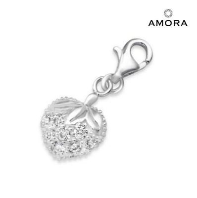 Wine/Cocktail Glass CZ Set Sterling Silver Clip-On Charm - For Thomas Sabo Style Charm Bracelets 0qm2Zzv