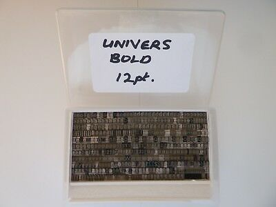 Letterpress Printing Type for use on Adana etc. 12pt Univers Bold