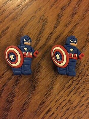 Marvel Captain America Shoe Charms X 2 Lego Captain America Croc Shoe Charms X 2