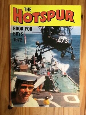 Hotspur Book for Boys 1972 (Annual) (Hardcover) Book , Unclipped, Very Good