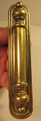 Handle Pull with Backer Plate Keeler Brass Co Vintage Furniture Cabinet Oblong