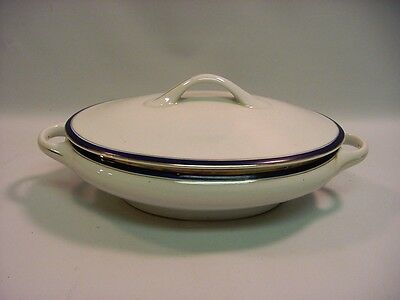 Antique Blue & White KPM Tureen/Covered Dish w/Lid Fine Porcelain Germany