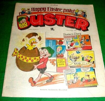 Buster Comic  Happy Easter  Issue   25/4/1981