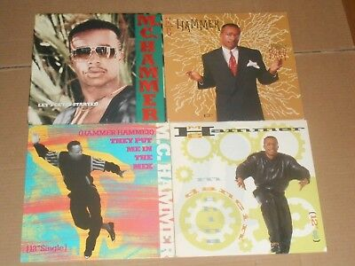 "MC HAMMER 4x LP 12"" dancin machine LET'S GET IT STARTED they put me in the mix"