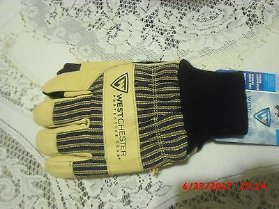 Hiking Hunting Westchester Pigskin Cold Weather Work Gloves Insulated Leather XL