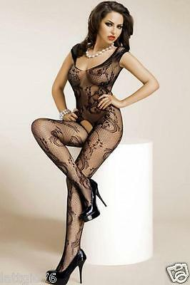 Bodystocking calza corpo sexy lingerie donna intimo catsuit hot nuovo D79714